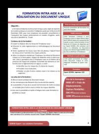 Formation aide a la realisation du document unique 2017