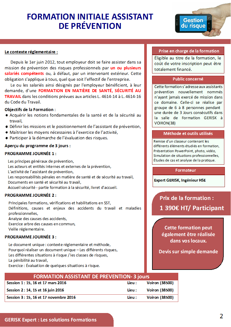 Formations risques au travail 00002