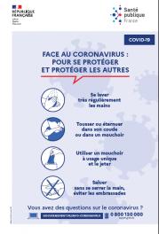 Coronavirus Les gestes barrières